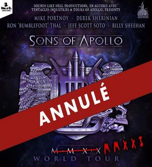 News CONCERTS SONS OF APOLLO ANNULE SA TOURNÉE