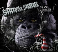 SHAKA-PONK_The-Black-Pixel-Ape-Drinking-Cigarettes-To-Tak